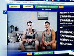 Muscle Homosexuell Analsex und Gesichtsbehandlung