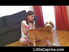 Famous Little Caprice with double dildo