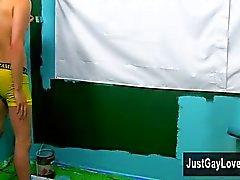 Hot геем сцены Джаспером Райкер как предполагается