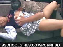 Public sex with a horny teen