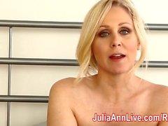 Milf Julia Ann teases você com lingerie & ajuda você cum!