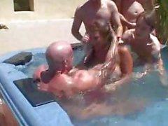 Ava Devine Pool Gangbang