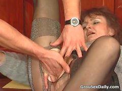 Two MILF&#039_s in stockings getting their