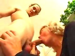 Blond mature stuffed with juicy cock in office