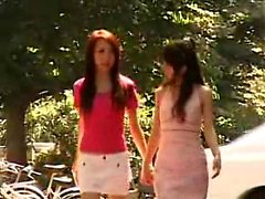 Two dazzling Asian babes get together and indulge in hot le