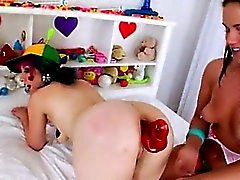 neat anal dildoing of hot lesbians