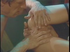 Hot brunette gets bent over and pussy finger fucked hard and fast