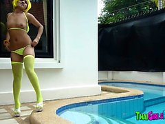 Thai hooker in the pool