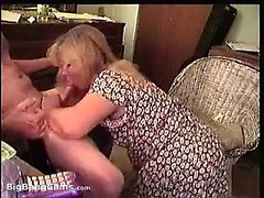 Blonde Mom Sucking Cock Like Mad