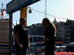Doggystyled dutch hooker spoils tourist