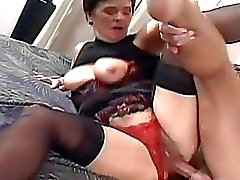 Horny Granny Fucked Hard By A Younger Co...