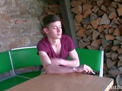 young cute boy - outdoor webcam