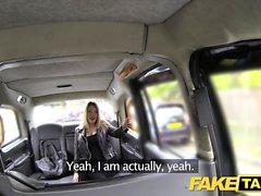 Fake Taxi footjob and big cumshot
