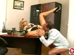 Hot fucking in the office
