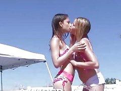 LUBED - Slip and Slide threesome with Kristen Scott and Scarlett Sage