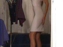 woman change dress spy room lingerie clothes celeb milf