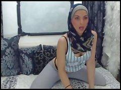 strip tease hot hijab girl