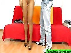 Gabrielle nylon mangueira fetiche shag