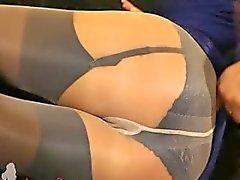 fairhair in incredible nylon pantyhose