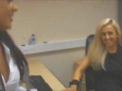 office girls tickling