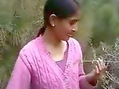 Desi lover kissing in field