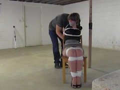 Secretary Liz chairtid and tapegagged!