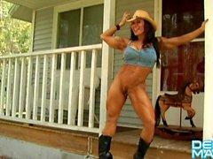 Denise Masino - Horse Play - Female Bodybuilder