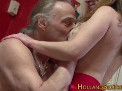 Paid hooker rides cock