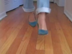 Stinky, Sweaty Ebenholz MILF Füße