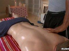 Hairy guy acquires a anal spooning from masseur