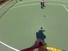 Ja Dani Daniels Yläosaton Tennis Fun - Scene 1