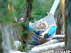 Blonde Russian Beauty Masturbating