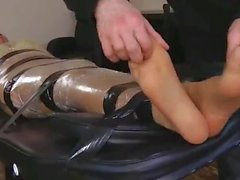 UK Tickling - Izzy's Mummified Foot Tickle Session