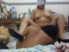 Busty slut makes a hot foot fetish scene