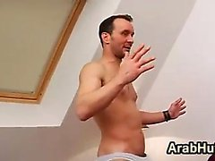 Arab In Stockings Fucks After Working