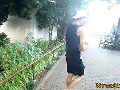 Jerked adolescente japonés corre