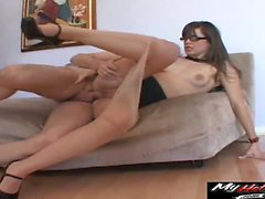 Cute Bobbi Starr has a big butt needing big cock to...