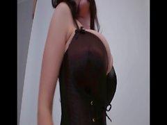 Lorna posing in sexy stockings