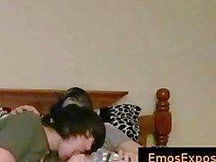 Zwei hübsch jung Produkte EMOS aufweist Homosexuell Sex auf dem Bett Teil4