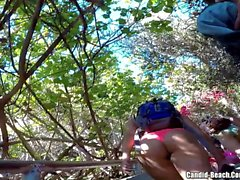 Beach Thongs Voyeur HD Video