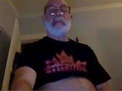 Opa-Schlaganfall auf Webcam