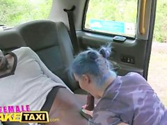 FemaleFakeTaxi Sexy emo chick in anal cab fuck