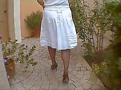 Knipperende mijn kousen en borsten op Kreta