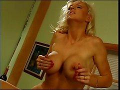 Blonde has interracial sex with black stud