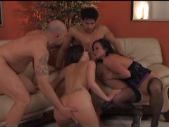 Niki Sweet (black stockings) Marika Ferrero Foursome