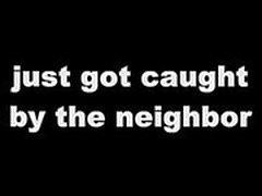TIPO del Lawn mower se ve atrapado por el vecino !!!