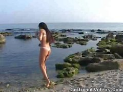 French Milf Fucked On Beach