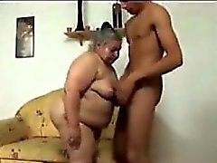 Fat Granny Being Pounded By A Young Guy