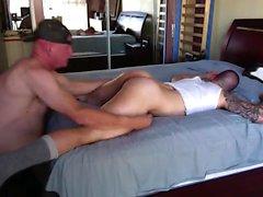 Großer Schwanz der homosexuellen Muskel
