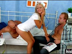 Hot nurse and two raging boners